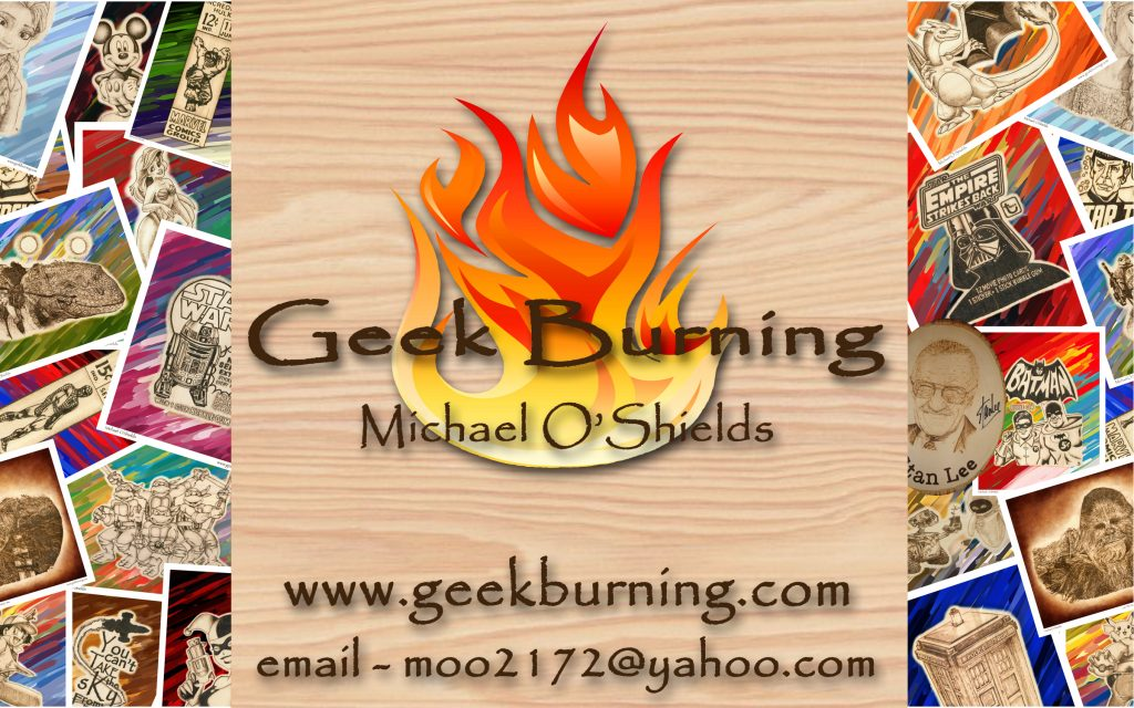 Geek Burning – Artist Michael O'Shields